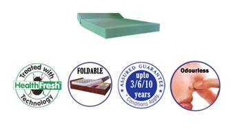"""Hospital Mattress  Two Sectional Hospital Mattress  We, Sheela Foam Ltd, offer """"Two Sectional Hospital Mattress"""" from our renowned brand Sleepwell Mattress Standard Hospital Range       It is made from High Density Cool Gel Grade foam. Cove - by Welcome to Sheela Foam Limited – Leaders in PU Foam, Thailand"""