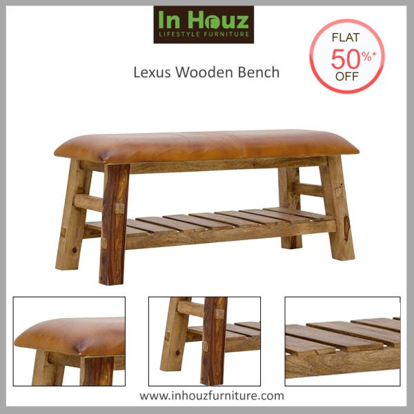 Versatile By Design. This beautiful Bench is easy to team up with a wide range of Furniture or simply pull it into the living room when you need extra seating, or use it in the hallway, by the door.  #SolidwoodBench #DiningRoomFurniture #LivingRoomFurniture #BenchDesign #WoodenBenchDesign #OnlineBench #OnlineFurnitureStore  #FurnitureCustomization #Inhouz #InhouzFurniture #FurnitureStoresInChennai  For more info visit www.inhouzfurniture.com