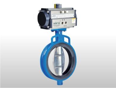 Pneumatic Wafer Butterfly Valve – Aira Euro Automation Pvt. Ltd. Leading manufacturer of Pneumatic Rotary Actuator wafer Butterfly Valve also export to globally as per customer requirements and their drawing also we can fulfil their requirements and orders.   We used Gray Iron, Cast Steel, Ductile Iron, CF8, CF8M and CF3M Body, Nitrile, EPDM, Viton, Hypelon and Neoprene Seat and Tight Shut Off Seat Leakage. Also we provide -20°C to 80°C Temperature (High Temperature available on Request) and PN 10 / PN 16 ( PN 20 ON REQUEST) Pressure Rating and we have 1.1/2