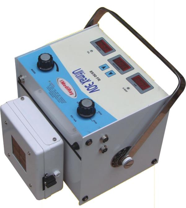 Portable X-Ray Machine   X-Ray Machine 50mA-85 KVP Full Wave Rectified X-Ray Generator having stationery Anode X-Ray Tube Output 50mA 6 kW as per ISI (7620-Part-I) Rating – Radiography 50mA at 50 kVp 40mA at 65 kVp 30mA at 85 kVp  We Are Leading Manufacturer Of Portable X Ray Machine In India