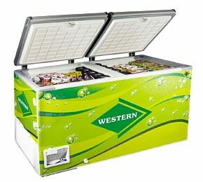 western 525 Liters double door deep freezer at attractive price  contact for more info  - by D Star Commercials, Hyderabad