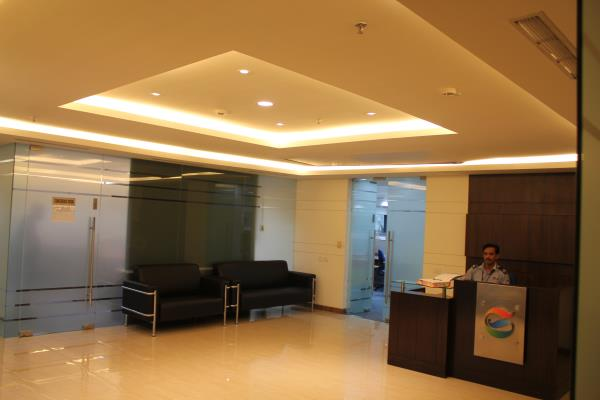 CUBE INTERIORS gurgaon /Reception Area designing for a top MNC in ...