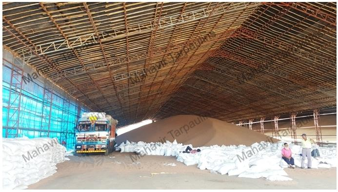 Huge span sheds for storage of food grains and Repacking.. convenient for loading unloading and use full space.