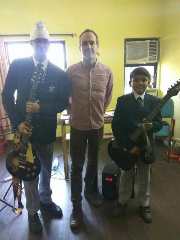 """Rockshool examination held on our academy """"Tarang global school of arts"""" Dwarka with Mr. Mark from England.....  For classes in guitar, w.dance, kathak, keyboard, vocal and sound engineering please feel free to contact @ 9582226359 / 851006 - by Tarang Global School Of Performing Arts, New Delhi"""