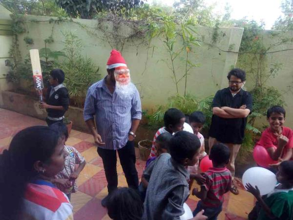 Santa played with our children - by Rays Of Hope, Bengaluru