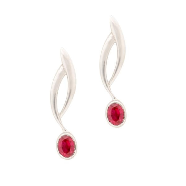 AMAZING 925 silver NATURAL transparent gem EARRINGS for ladies:-  Product ID-348730 Particular-Synthetic Ruby Colour-Purplish Red Shape/Cut-oval/Mixed Height-18(c.m.) Width-6(c.m.) Silver wt-1.89(gm) Stone wt-0.2(ct) Gross wt-2.89(gm) INR 600