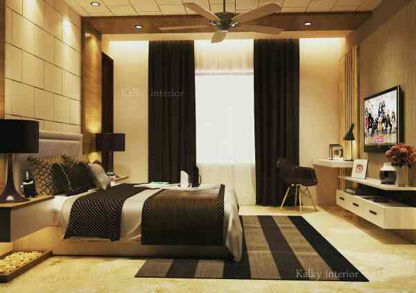 Bedroomdesignideas by Kalky interior for you. we have made this design for one of our site at shubhaarambh villas . Kalky interior is best interior designing company in Calypso court, JP Wtown, Noida