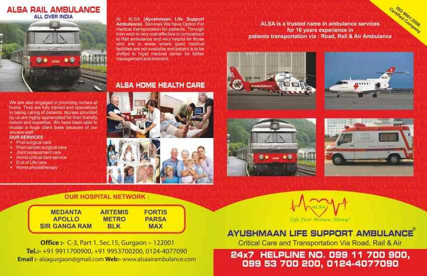 Best air ambulance Delhi NCR Ayusmaan life support ambulance 9911700900. 9953700200  www.alsaairambulance.com - by Ayushmaan Life Support Ambulance | 9911700900, Gurgaon