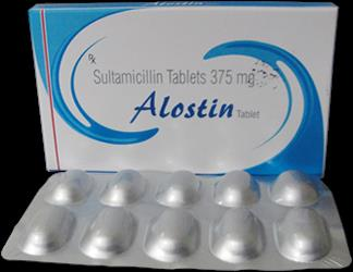 We are leading Manufacturer and Supplier of Allishq Anti Infective in Ahmedabad, Gujarat, India  ALOSTIN-375 Sultamicillin Tablet 375mg Pack 10 Tab   For Details Contact Us: +91 9429307011  +91 9824042701