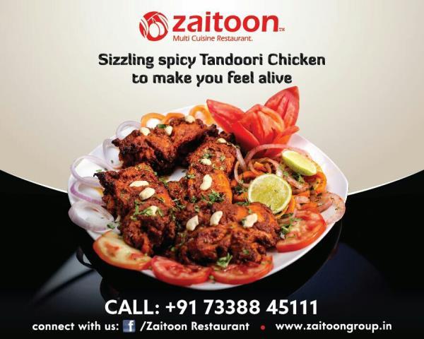 Sizzling Spicy Tandoori Chicken - by ZAITOON RESTAURANT, Madurai