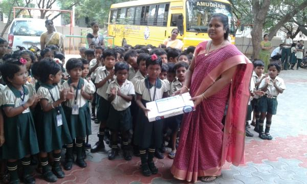 In Dolphin Colour Contest our student  M.VALLARMATHI  of UKG got second prize in District level.