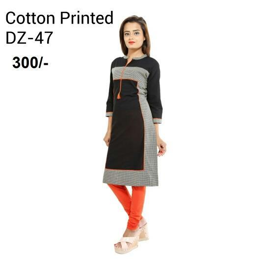 cotton printed kurti manufacturr in india