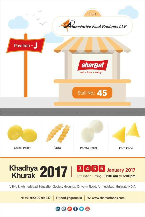 Visit us @ Khadhya Khurak 2017 exhibition. #khadhyakhurak #foodofindia - by A Innovative Food Products LLP, Ahmedabad