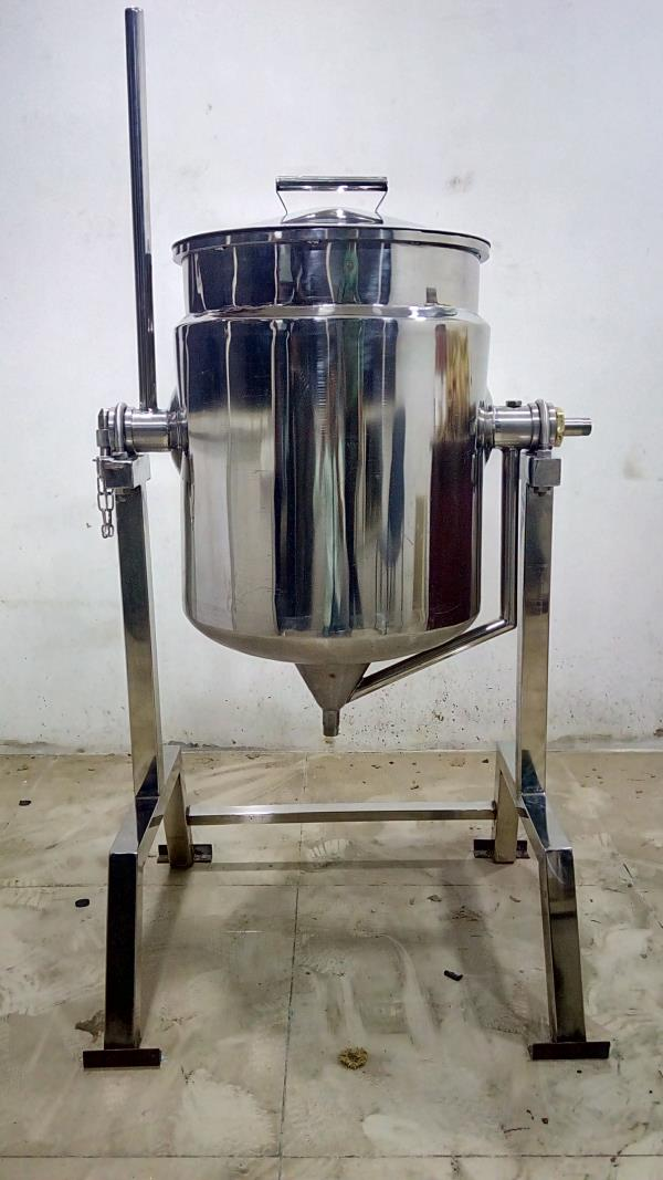 SS Double Jacketed Milk Cooker - 50 Liters Capacity Exported To Dubai