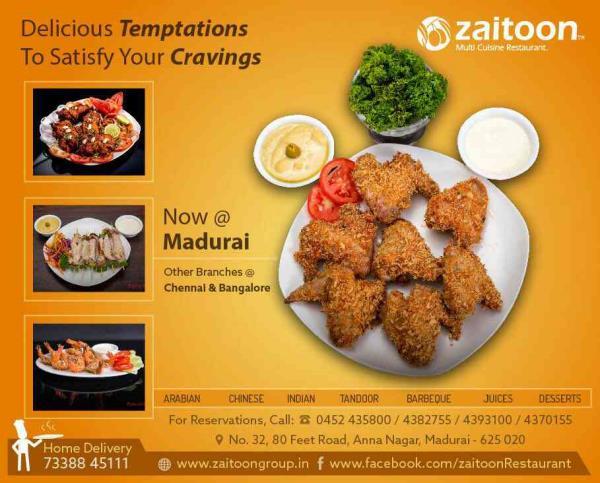 Best Multi cuisine Restaurant - by ZAITOON RESTAURANT, Madurai
