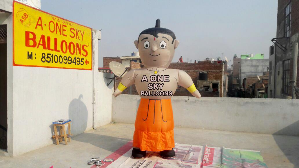 A One Sky Balloons - Inflatable Product Manufacturer in Bhopal  This is chhota bheem it's Advertising for event promotion regarding  for more details call us or visit website