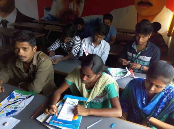 A practical session on the study of creating a greeting card design for CHRISTMAS was taught by Mr.S.Suresh kumar and was practiced by PALME DEOR FILM & MEDIA COLLEGE High End Professional students of B.F.A Visual Communication and Diploma in Visual Communication on 23-12-2016.