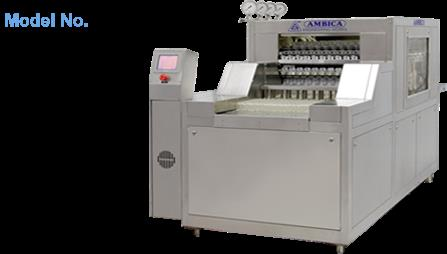 Vial Washing Machine With Grippers manufacturer in Ahmedabad : Ambica Engineering Works is the prominent Manufacturer of High Speed Vial Washing Machine in Ahmedabad.   Features of Ambica's Vial Washing Machine :   Vials are picked up with grippers.  Perfect for washing of 2 ml to 100 ml vials.  High-pressure spray nozzles gives the perfect Wash  Totally fabricated from stainless steel   washing process observation .  No change of parts required for washing of vials (2ml to 30ml) - changeover time.  Water re-cycling arrangement   Machine is with PLC system & printing facility with passwords.  For More Details on Vial Washing Machine with Gripper Drop your Message below