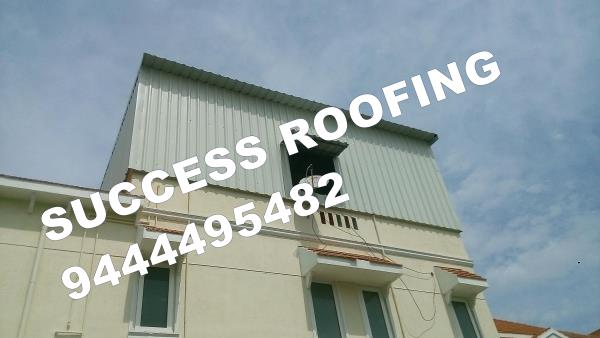 TERRACE ROOFING SHED   'SUCCESS ROOFING'  WE ARE ALL KINDS OF ROOFING WORK PROVIDING. FACTORY SHED, INDUSTRIAL ROOFING SHED, HOUSE MADE ROOFING SHED, SPORTS CLUB SHED, MARRIAGE HALL SHED, TERRACE SHED, COW SHED, POULTRY, BADMINTON COURT SHE - by SUCCESS ROOFING, padappai