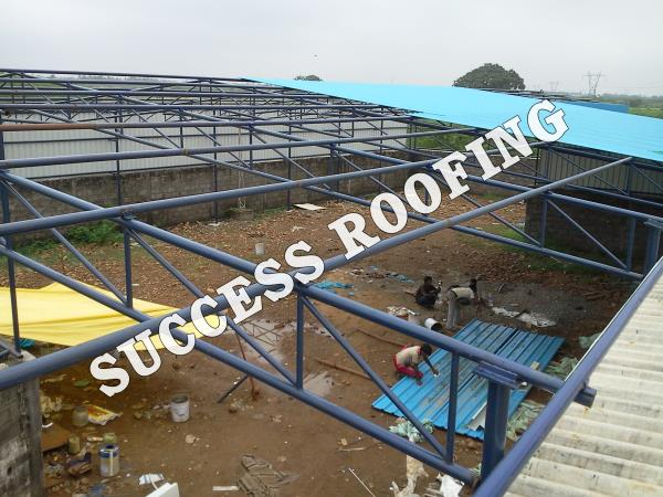 ROOFING FABRICATION SHED  'SUCCESS ROOFING'  WE ARE ALL KINDS OF ROOFING WORK PROVIDING. FACTORY SHED, INDUSTRIAL ROOFING SHED, HOUSE MADE ROOFING SHED, SPORTS CLUB SHED, MARRIAGE HALL SHED, TERRACE SHED, COW SHED, POULTRY, BADMINTON COURT  - by SUCCESS ROOFING, padappai