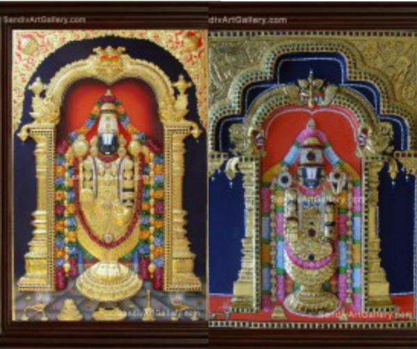 Tanjore Paintings - Lord Balaji Tanjore Paintings Online  Festival Special OFFER !!! @ Sandiv ART Gallery *10% Discount for Tanjore Paintings  * 15 Days Only - On 1st to 15th Jan 2017... * Conditions apply.. Beautifully Framed & Exclusively - by Sandiv Art Gallery, Coimbatore