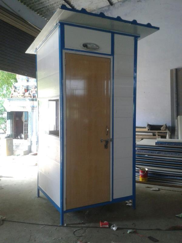 Security cabin manufacture in chennai: Security cabin is available in different materials like Syntex PVC  and  Plasto panel or FRP mixed panel , It is durable, Smooth finish , corrosion resistant, aatractive and effective. Available in various dimensions to fulfill the client need. The price is also low.