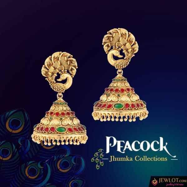 Peacock Collections.. !! Get the Unique peacock themed Earring Collections Now!! #jewlot #jhumka #antique #freeshipping shop @ http://bit.ly/2jh5yVP see more @ http://bit.ly/2ibxsp7 - by Jewlot.com, Chennai