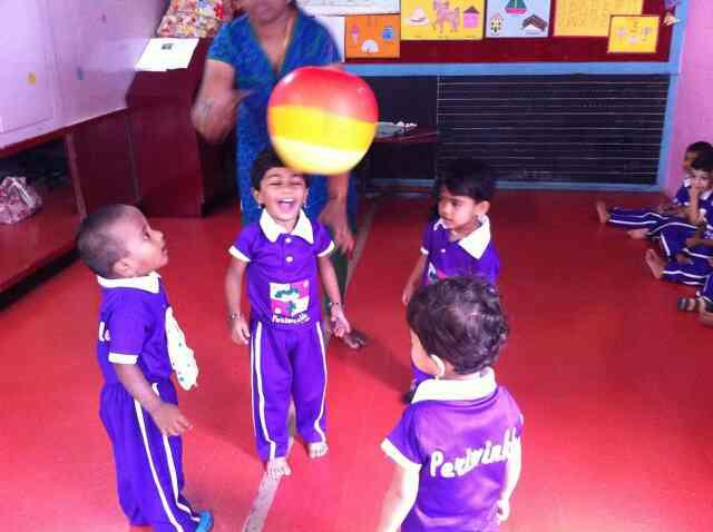The Best Kindergarten at Banashankari. -  Children happily playing while learning @ Perwinkle Preschool and Daycare.:-)