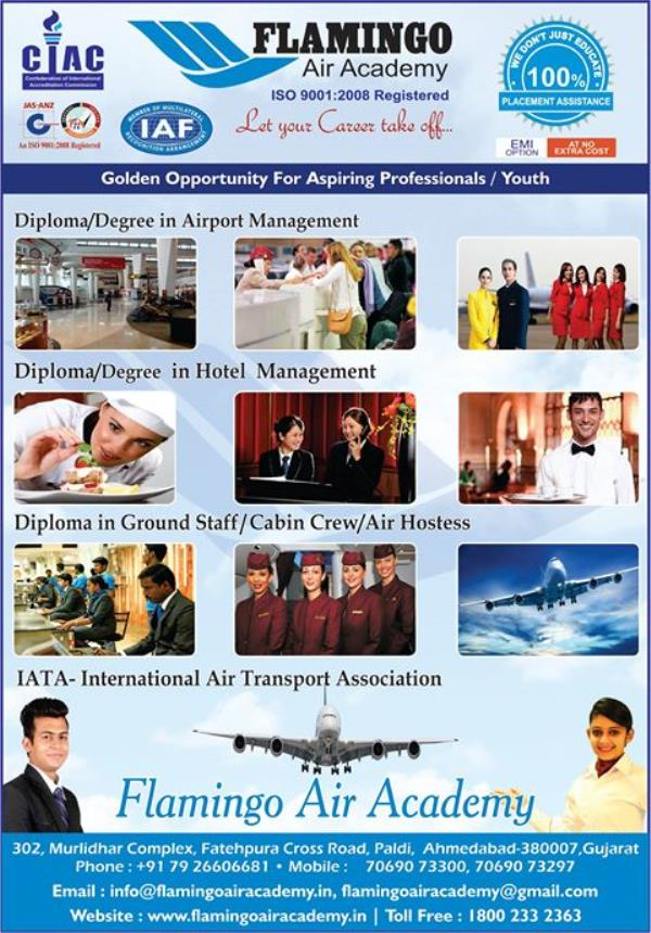 #Admissions #Open #FewSeats #LimitedSeats #Degree #Diploma #Certificate #Course #Study #AirportManagement #HotelManagement #GroundStaffManagement #CabinCrewManagement #AirHostessManagement #FrontOfficeManagement #HousekeepingManagement #Kit - by Flamingo Air Academy, Ahmedabad