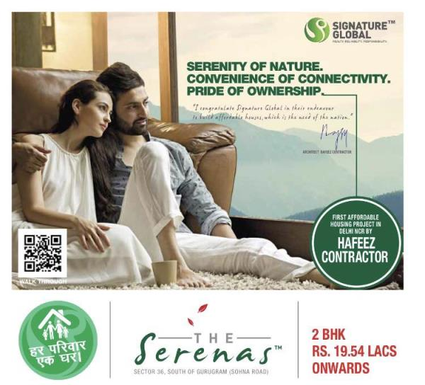 #Serenas #SouthOfGurgaon #Sohna #SignatureGlobal #AffordableHousing #1BHK #2BHK