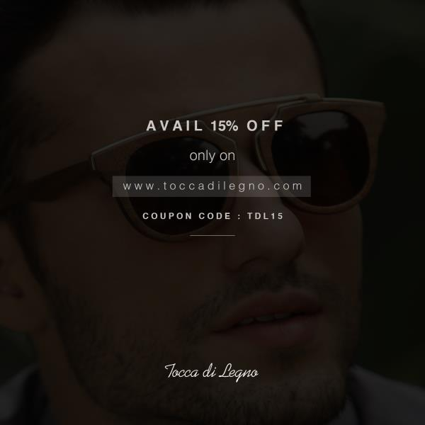 Buy #Wooden Sunglasses Mumbai at www.toccadilegno.com  Original handcrafted wooden eyewear, made from luxurious woods and UV 400 polarised lenses.  Use coupon code TDL 15 and get 15% off on our premium #Wooden Eyewear - by Tocca di Legno - Handcrafted Wooden Sunglasses, New Delhi