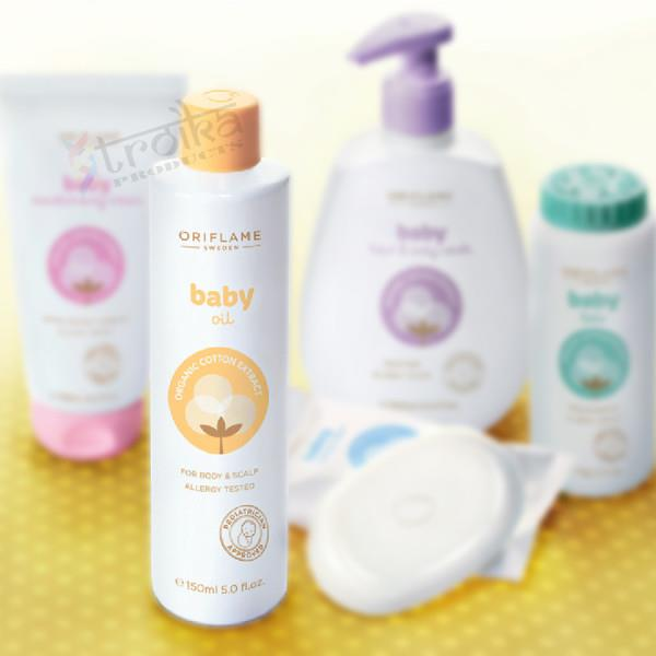 Oriflame Baby Oil 150ml in Dwarka  With the goodness of sunflower seed oil, Oriflame Baby oil helps strengthen baby's bone. Deeply Nourishes and  smoothens babies skin. Made with the compositions of organic extracts to protect delicate skin - by Wonder Mega Mart, new delhi
