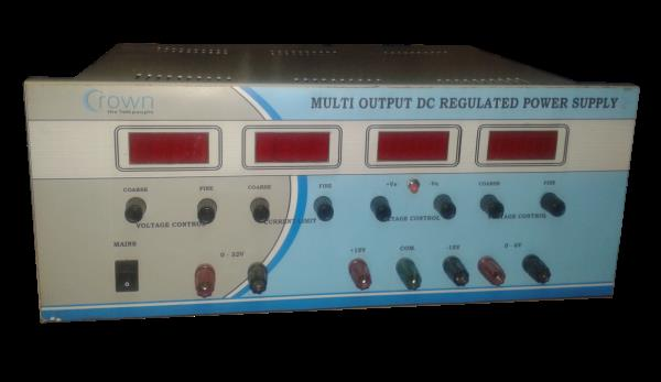 Multi Output DC Regulated Power Supply  CROWN Multi Output DC Regulated Power Supply is a very popular Product.The supply can be use in independed & tracking mode.The Multi Output DC Regulated Power Supply is protected against short circuit - by Crown Electronic Systems, New Delhi