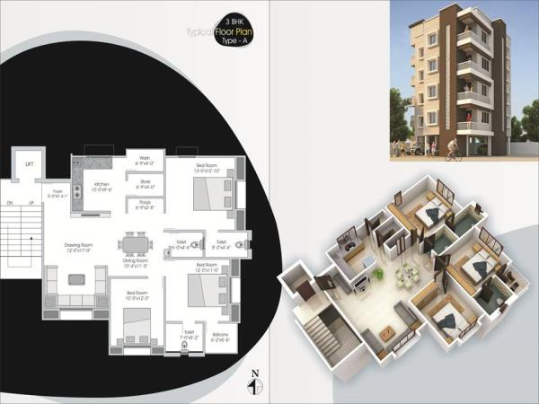 3 BHK FLATS FOR SELL IN M