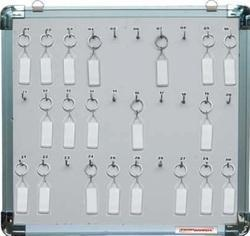 We are one of the noted manufacturers of an exclusive range of Open Type Key Board or Key Cabinets widely used in varied applications in areas like apartments, office premises, lodges and many establishments. This helps to store safely keys with different numbers and hand them securely in the board. We manufacture these using advance techniques and also by using fine quality of raw materials. Moreover, we also offer customized range of boards as per clients' options for added safety.   Standard No of keys in a Cabinet:   •10 Key Cabinets.  •15 Key Cabinets.  •20 Key Cabinets.  •30 Key Cabinets.  •50 Key Cabinets.  •75 Key Cabinets.  •100 Key Cabinets.
