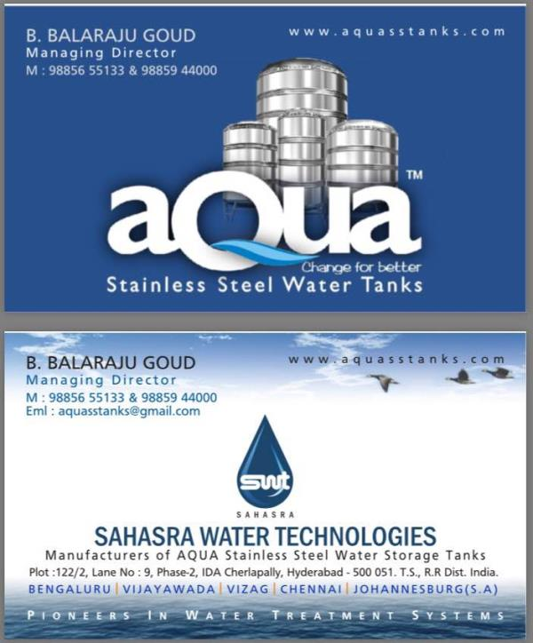 New visiting card ,  #sstanks, #stainless steel Tanks , #water treatment  components, #Aqua ss tanks .