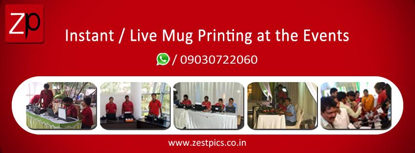 Instant or Live Photo Mug Printing at the Events  Call or WhatsApp to 9676444486 www.zestpics.co.in  #Zestpics #PhotoMugs #PhotoGifts #Gifts #PersonalizedGifts #InstantMugs #Live Mugs