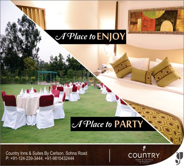 Welcome to our green paradise, a #heaven of tranquility in the heart of vibrant city Gurgaon. #PerfectPlace to stay and enjoy the party. #CountryInnSuites #SohnaRoad #Gurgaon. For more details please click here: http://bit.ly/25ppGuf.  - by Country Inn & Suites By Carlson, Gurgaon Sohna Road, Gurgaon