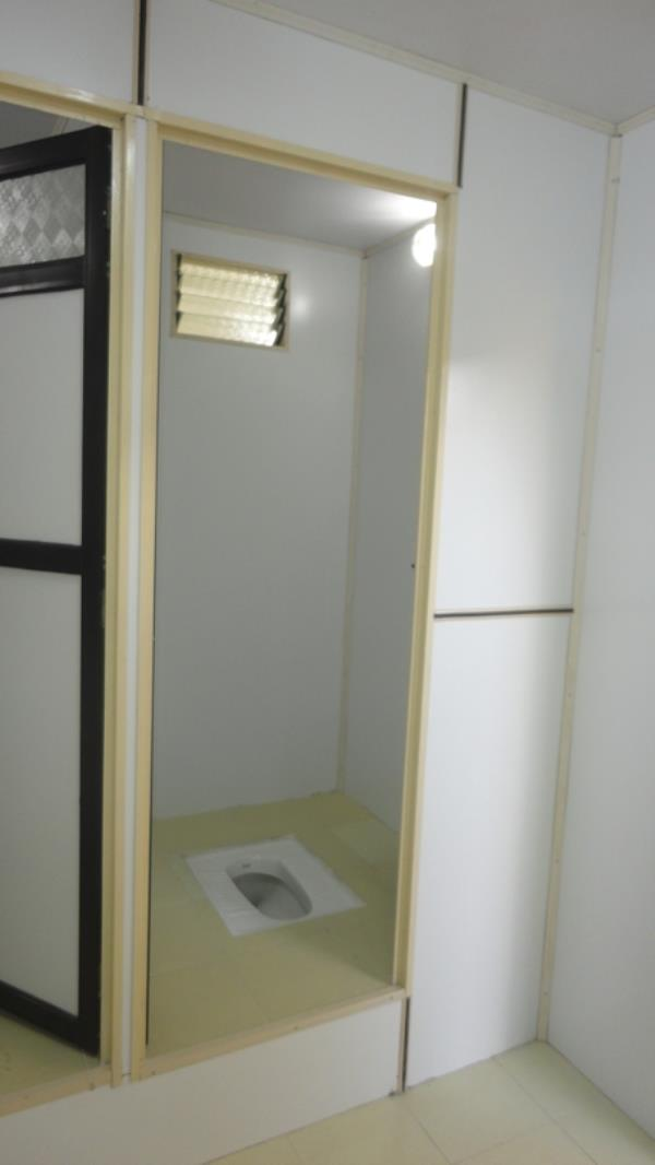 PUF Portable Toilet Block    PUF Portable Toilet Block Discription:  We are involved in offering PUF Portable Toilet Block that are fabricated with the use of best grade materials. PUF Portable Toilet Block are with low maintenance and good strength and load bearing capacity is high compare to other blocks. We make use of material that is quality checked by our team of skilled quality controllers. Further, the portable design of the toilet blocks makes them widely acclaimed and used among the customers. These prefabricated Toilet are widely used for security purpose. The offered cabins have excellent dimensions. Our cabins have great amount strength. Besides, these prefabricated Toilet are highly portable in nature.   PUF Portable Toilet Block Features:  •Fire Retardant  •Low maintenance  •Hygienic & spacious  •Cost effective