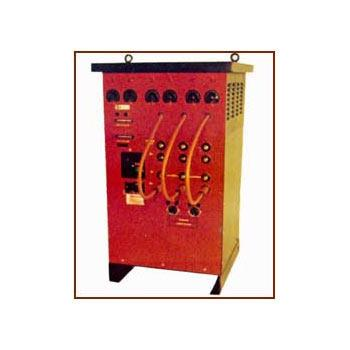Heat Treatment Power Source available in 40 Kva, 50 Kva, 75 Kva & 100 Kva capacity provides safe low voltage power 60/65 V & 80/85 V to feed flexible Ceramic Heaters for the purpose of preheating & Post Weld Heat Treatment.   - by INDO THERM ENGINEERS PVT. LTD., Thane