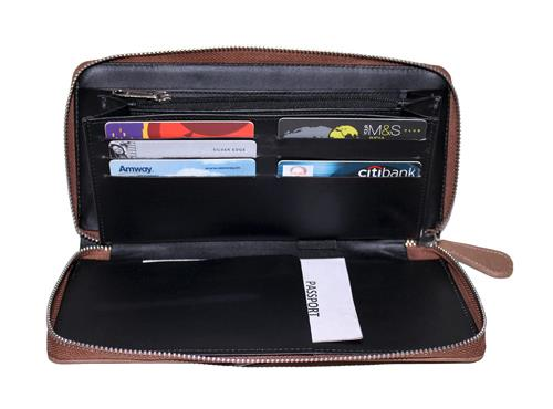 Essart Travel Doucment Holder -200300-Brown   Essart Travel Doucment Holder -200300-Brown Store in Delhi-Ncr.    Travel document holder with 4 compartments, one zipper compartment, 1passport compartment, 6 card slots and zipper closure. Buy - by Essart India, New Delhi
