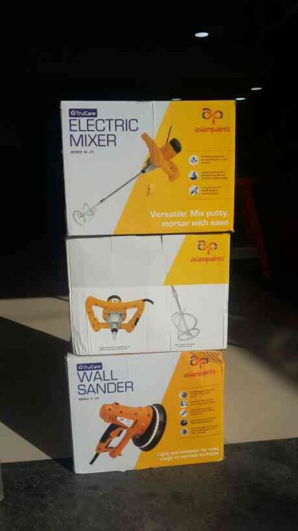 Mechanised Tools From Asian Paints  Electric Mixer And Wall Sander
