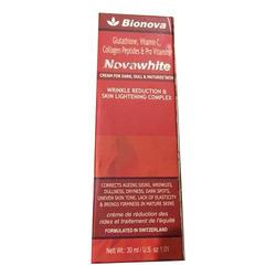novawhite cream   First time a combination of glutathione with collagen peptides with vitamin C for anti ageing and anti wrinkles cream  best for skin lighening  best for anti aging