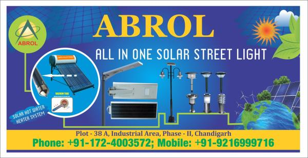 Best Solar Water Heater in Chandigarh  Abrol Solar Energy  Salient Features of Solar Water Heating System, Solar Water heating systems turns cold water into hot water with the help of sun rays.  •Around 60 deg. – 80 deg. C temperatures can  - by Abrol Group, Chandigarh