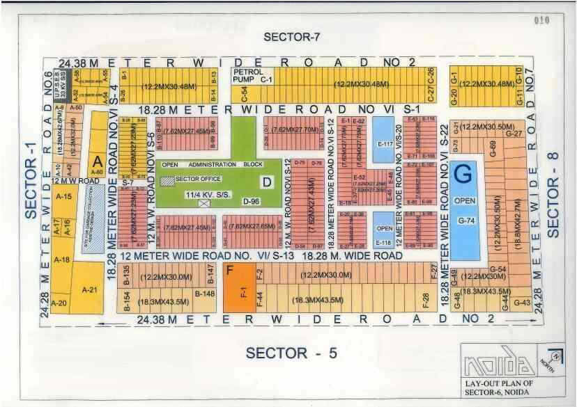 Industrial plot for Sale   location D Block Sector 6 Noida   Size - 210sqmt  Rate 1.60Cr   Call for more Detail 8744006777