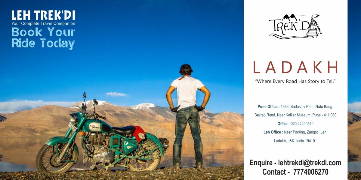 Ladakh - ''Where Every Road Has Story To Tell''  Ladakh is one of the most beautiful region in India. The raw beauty of this region is mesmarizing. In this Expedition we ride on motorbikes across most - by TREK'DI TOURS AND ADVENTURES, Pune