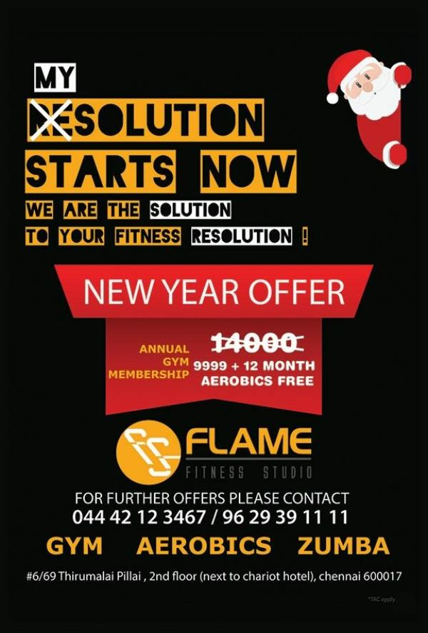 Image result for india gym new year ad