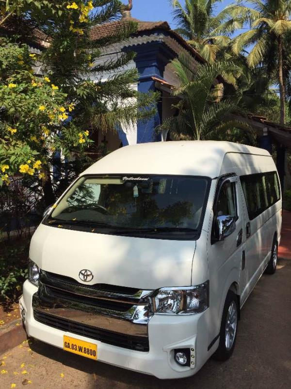 There's is no better way to enjoy #Goa than in our #toyota #commuter. For details call Vailankanni Car Rentals @9822101598. #rent #car #rentals #Goa #candolim #hire #selfdrive #taxi