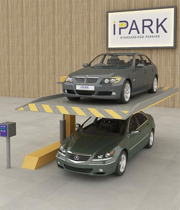 IPark A Venture Of INDEL ENGINEERING LTD. is leading Manufacturer of single post car parking system in Ahmedabad, Gujarat, India.  This is a single post car parking system that provides parking space for two cars, one above the other. This  - by iPark A Venture Of  INDEL ENGINEERING LTD., Ahmedabad