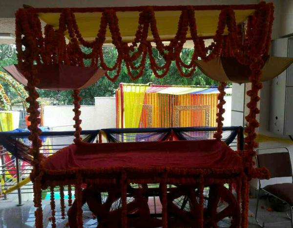 OM SAI CATERERS AND EVENT PLANNERS our exclusive decorations for mehendi functions.. Innovative setups